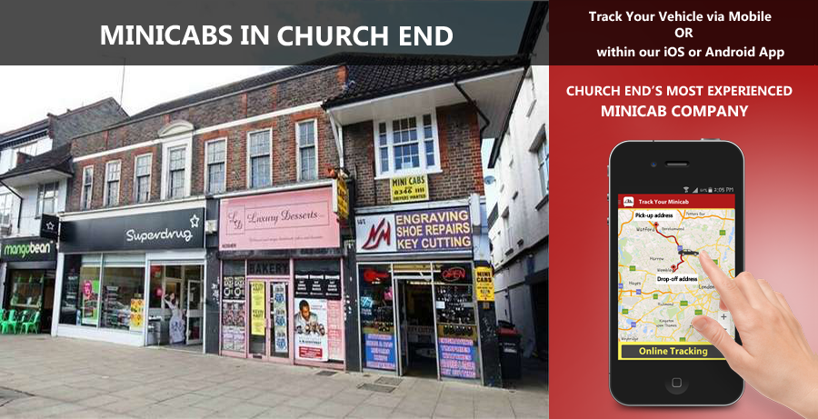 minicab-in-Church End
