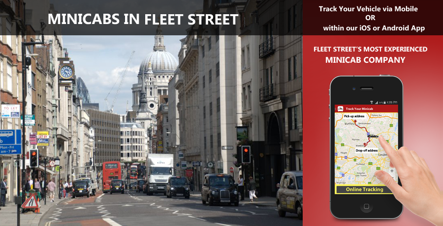minicab-in-Fleet Street