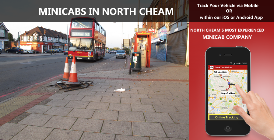 minicab-in-North cheam